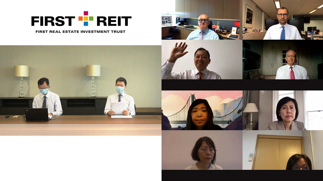 First Reit virtual AGM held on Motion Media Works live webcast platform