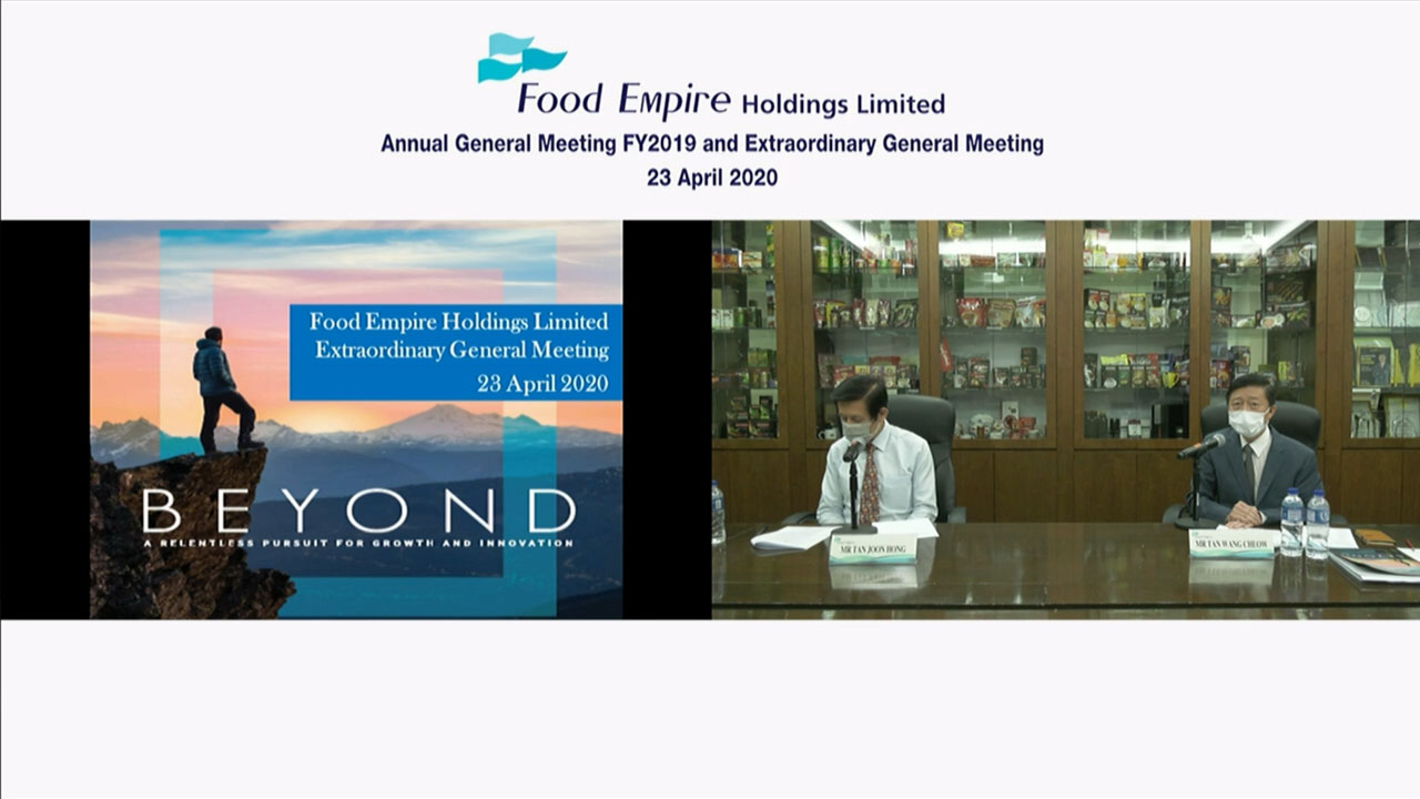 Annual general meeting via webcast with powerpoint screen sharing