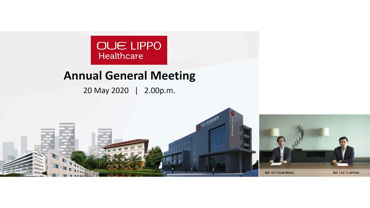 OUE Lippo Healthcare Limited virtual AGM held on Motion Media Works live webcast platform