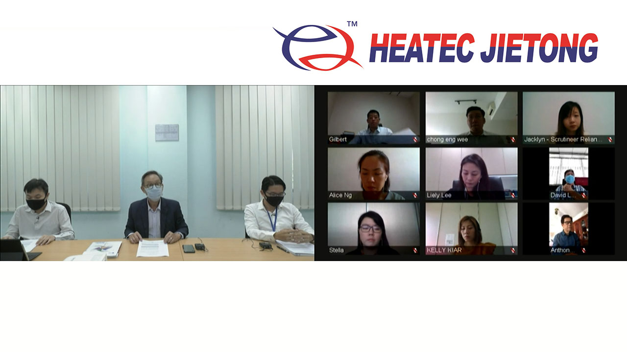 Heatec Jietong Annual General meeting webcast with remote board of directors