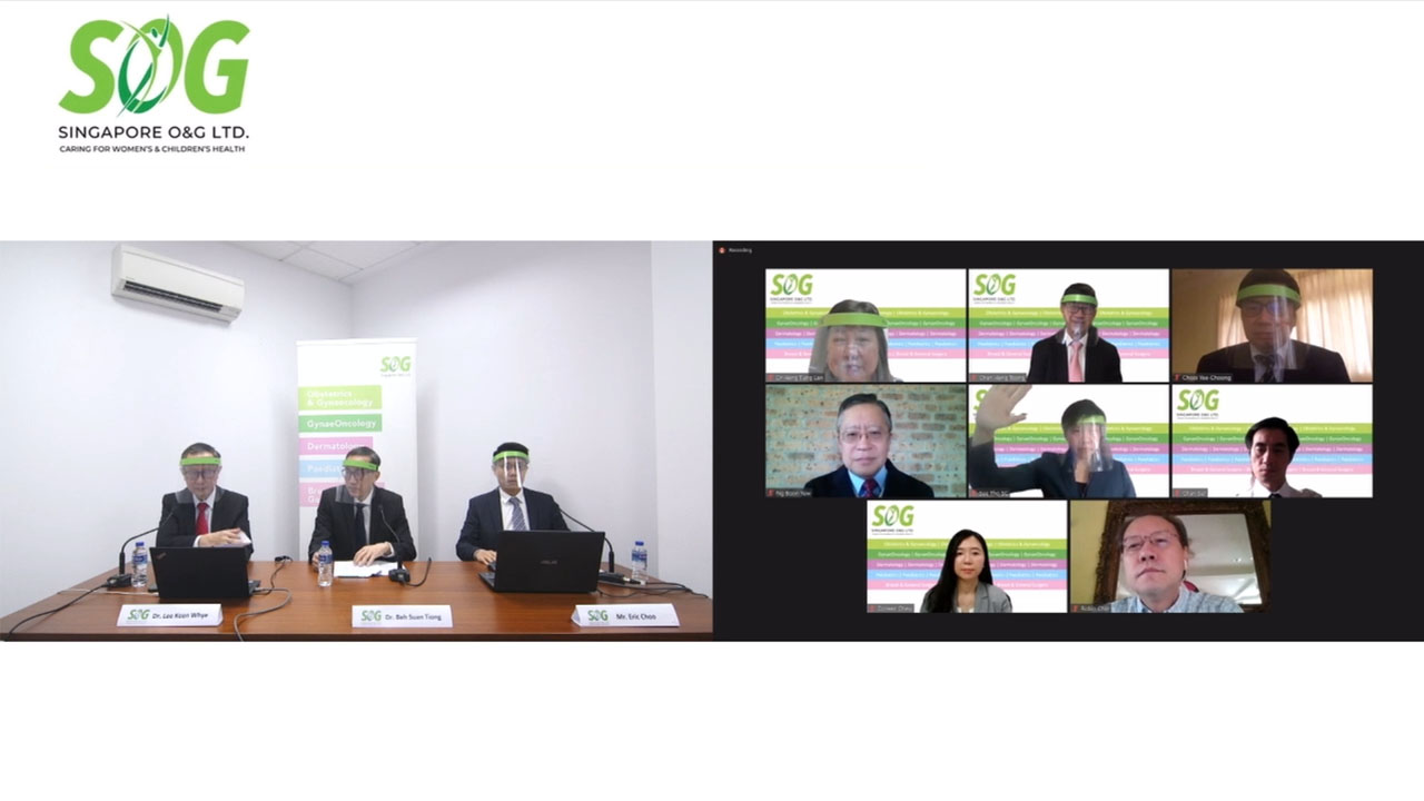 Singapore O&G Virtual Annual General Meeting Live webcast with remote board of directors