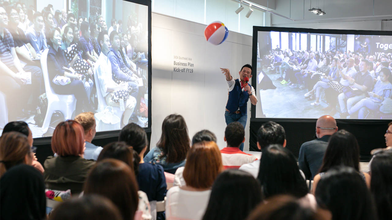IKEA Corporate multi site townhall event streaming from Bangkok Singapore and Kuala Lumpur