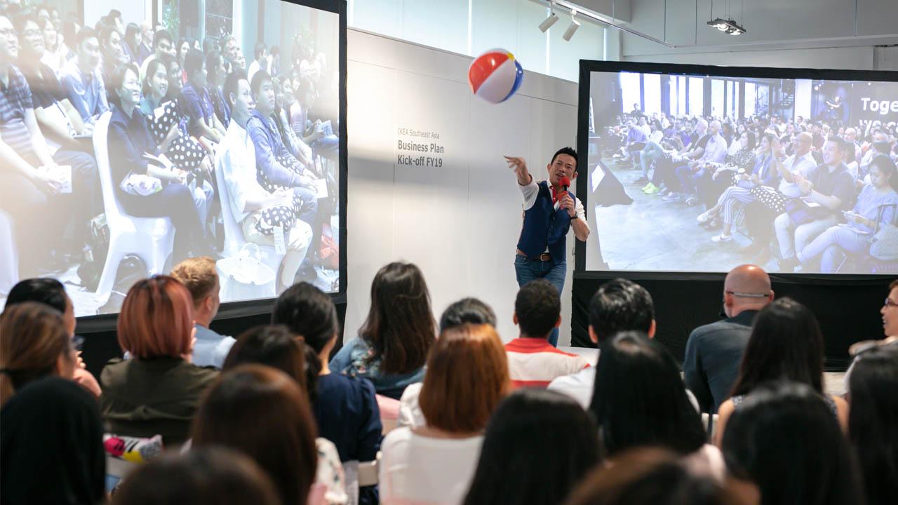 IKEA Corporate multi site townhall event streaming from Bangkok Singapore and Kuala Lumpur