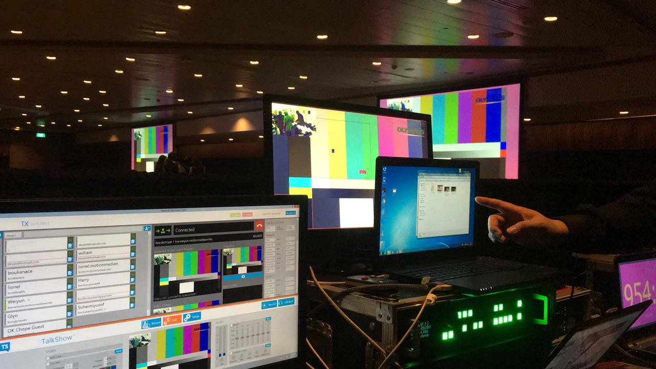 Medical conference livestreaming event av service and webcast receiving